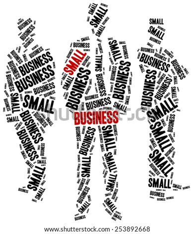 Small business. Word cloud illustration entrepreneurship related. - stock photo