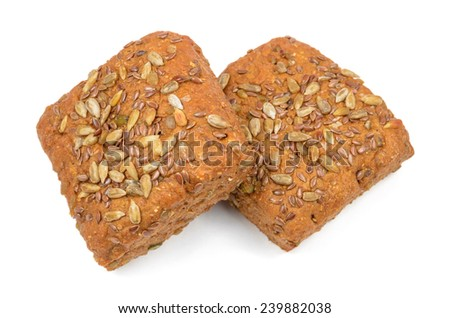small but tasty rye breads - stock photo