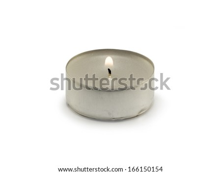 Small candle - stock photo