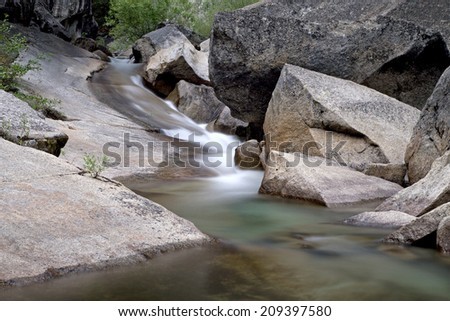 Small cascades in the High Sierras, Kings Canyon National Park California - stock photo