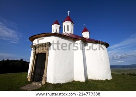 Small chapel at Sanzieni, Romania - stock photo