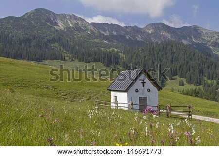 Small chapel in the Karwendel mountains