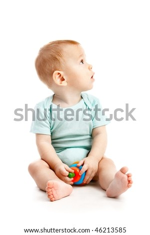 small child isolated on white