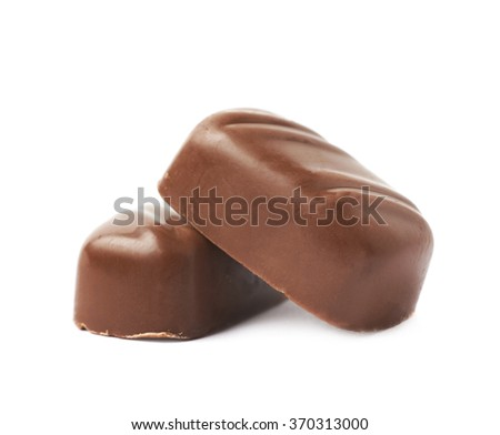 Small chocolate candy bar isolated - stock photo