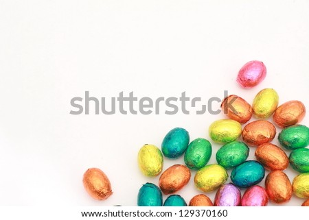 small Chocolate eggs a Traditional Easter sweet.