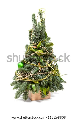 Small Christmas tree, isolated on white background