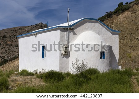 Small church in Paleochora, southern Crete, Greece
