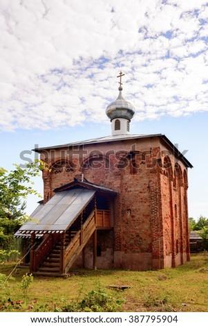 Small church in Staraya Russa, a town in Novgorod District, Russia - stock photo