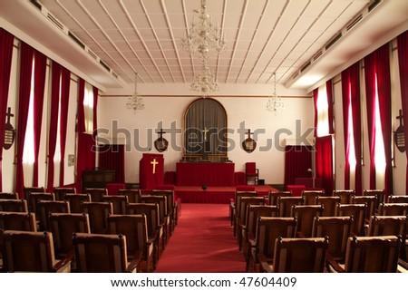 Small church's inside. - stock photo