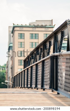 small city bridge - stock photo