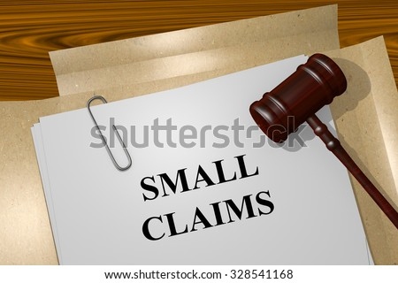 Small claims Title On Legal Documents - stock photo