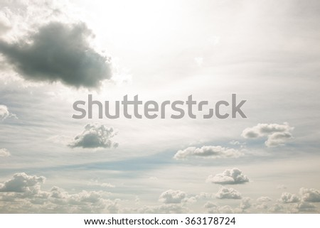 Small cloud group in clear sky background. - stock photo
