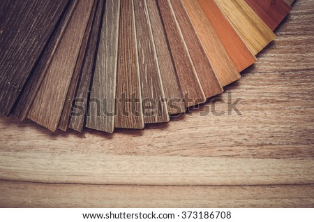 Small color sample boards. toned image - stock photo