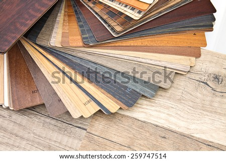Small color sample boards with different right for demonstration - stock photo