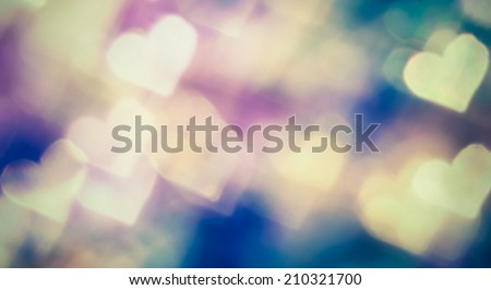 Small colorful hearth bokeh for valentine day love concept - stock photo