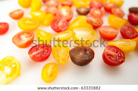 Small Colorful Heirloom Cherry Tomatoes