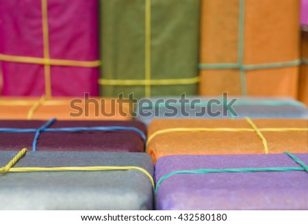 small colorful packets - stock photo