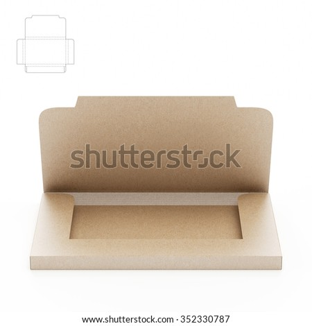 Small Compact Business Cards Sleeve Box with Die Cut Template