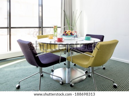 Small Conference Room Modern Environment Windows Stock Photo Edit - Small conference room table