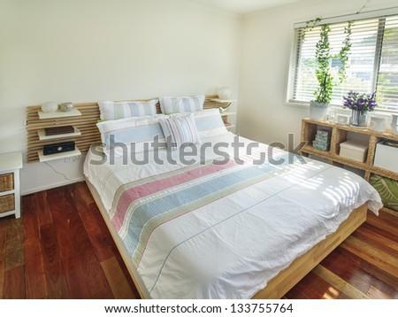 Small cozy bedroom - stock photo