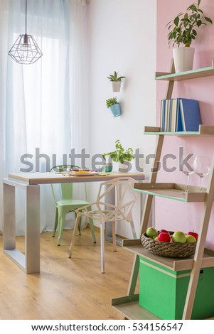 small cozy dining room with pastel furniture - Pastel Furniture