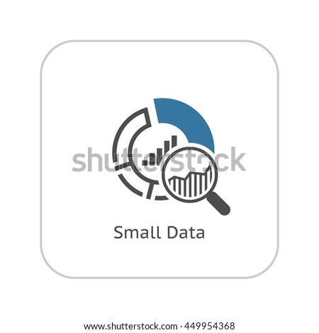 Small Data Icon. Flat Design. Business Concept. Isolated Illustration. - stock photo