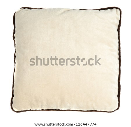 Small decorate pillow isolated over white background - stock photo