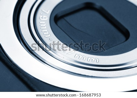 Small digital camera lens with 7.9mm to 23.7mm zoom