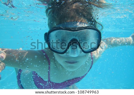 small diver girl