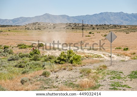 Small dust devil in a rural area of Utah