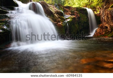 Small elbe waterfall - stock photo