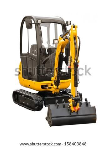 Small excavator - stock photo