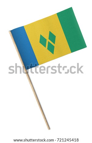 Small flag isolated on a white background