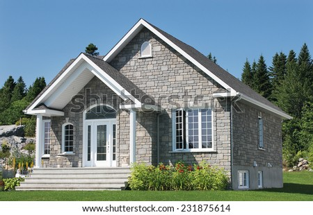 Small Generic Home Exterior - stock photo