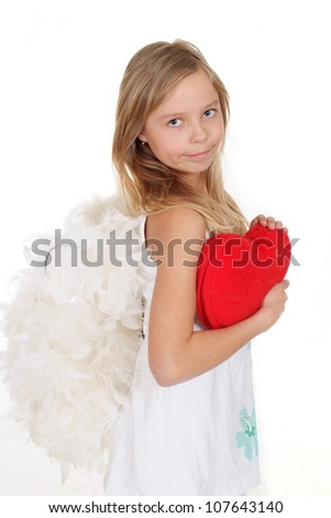 Small girl showed herself in the photos in all her glory - stock photo