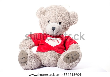 Small Grey toy teddy bear soft toy