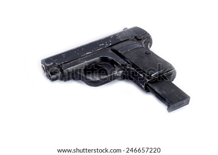small gun isolated