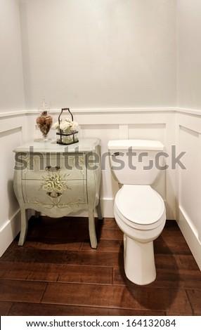 Small Half Bathroom in New Home - stock photo