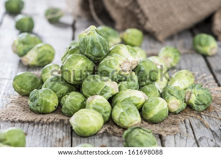 Small heap of fresh Brussel Sprouts