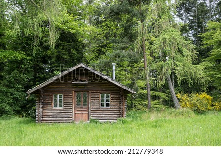 Small house in the forest - stock photo