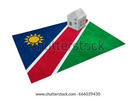 Small house on a flag - Living or migrating to Namibia
