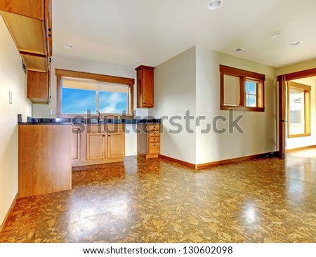 Empty house room stock photos images pictures for Luxury garage interiors