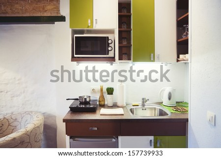 Small Kitchenette small kitchen stock images, royalty-free images & vectors