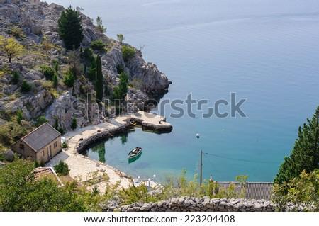 Small lagoon in Croatia - stock photo