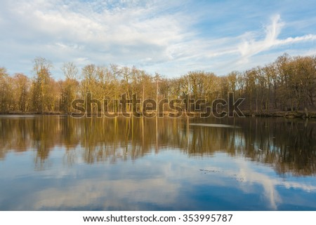 small lake in Ballenstedt, Harz Mountains in Germany