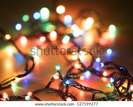 small light bulb with blur bokeh background for festival celebration christmas happy new year - Celebration Christmas Lights