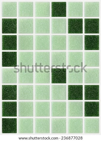 small marble tiles green square shiny - stock photo