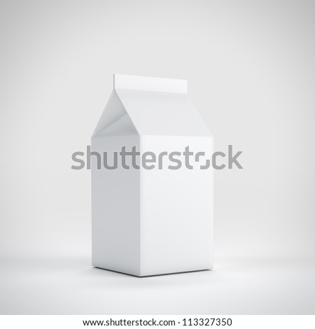 Small milk white carton package - stock photo