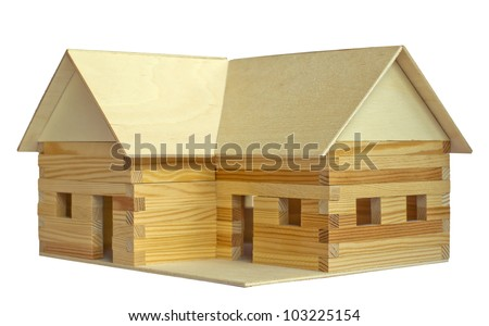 small model house made ??of wood