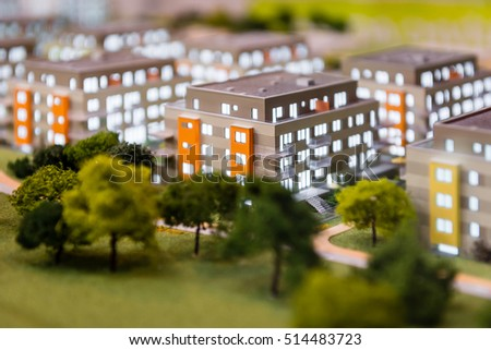 Small model of blocks of flats